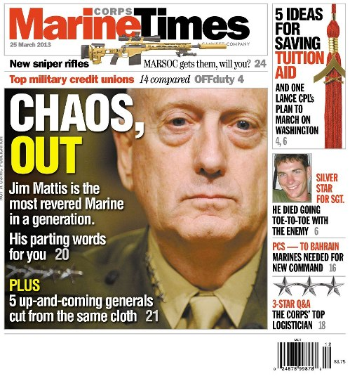 photo of 25 March 2013, Marine Times Cover Cover